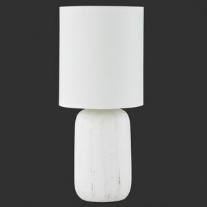 Reality Leuchten Keramická stolní lampa Clay textilní stínidlo