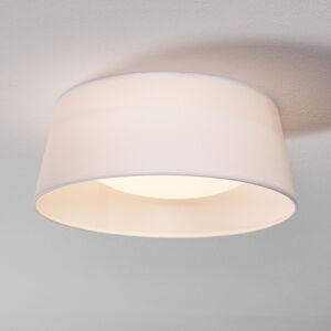 Reality Leuchten Bílé textilní stropní světlo Ponts s LED