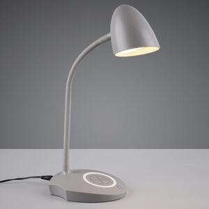 Reality Leuchten Stolní lampa LED Load, indukční nabíječka, šedá