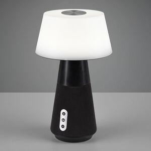 Reality Leuchten LED stolní lampa DJ s reproduktorem, bílá/černá