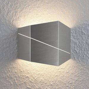 Lindby Nástěnné LED svítidlo Nikolae, 18cm, matný nikl