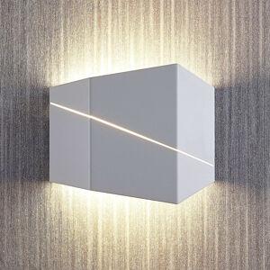 Lindby Nástěnné LED svítidlo Nikolae, 18cm, bílé