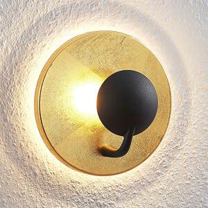 Lindby Lindby Lou LED nástěnné světlo černo-zlatá