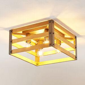 Lindby Lindby Jamina Wood stropní světlo, čtyřžárovkové