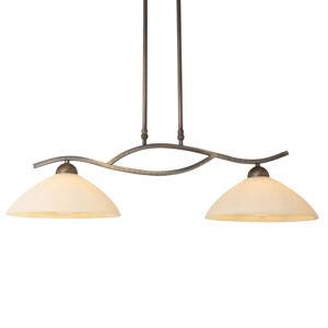 Steinhauer BV Závěsné světlo Capri 2zdrojové krémové/bronz