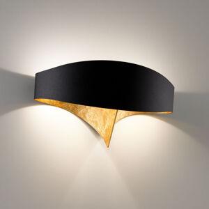 Selene Černozlaté designové nástěnné světlo Scudo
