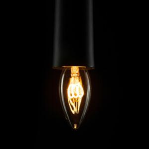 Segula E14 2,7W 922 LED svíčka Filament Curved Line