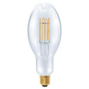 Segula LED Ellipse Curved U E27 10W, teplá bílá, stmívací