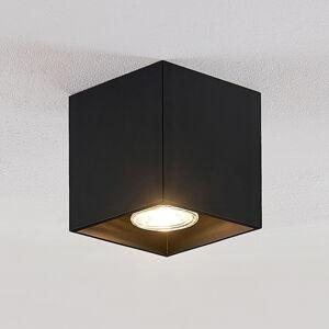 Lindby Lindby Parvin downlight hliník, hranatý, černý