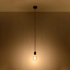 SOLLUX Závěsné světlo Simple, černá, kabel červený