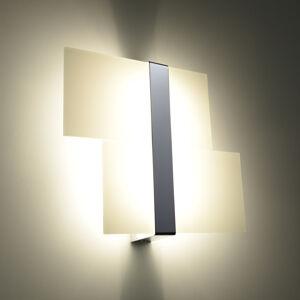 SOLLUX Nástěnné světlo Shifted, dvě skleněné části, chrom