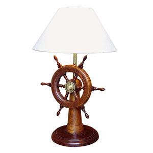 SEA-Club HELMSTAND - stolní lampa se dřevěným kormidlem