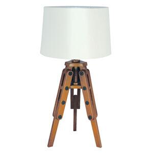 SEA-Club Dřevěná stolní lampa Marvin ve tvaru stativu
