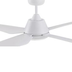 Beacon International Stropní ventilátor Aria s LED světlem, bílá