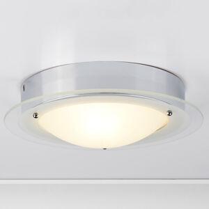 Searchlight Juna stropní svítidlo do koupelny skleněný okraj