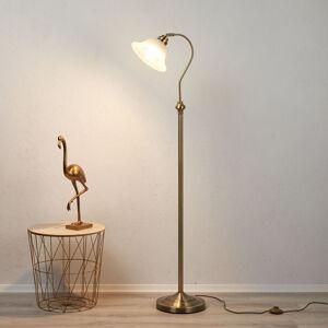 Searchlight Stojací lampa Bjane, starožitná mosaz