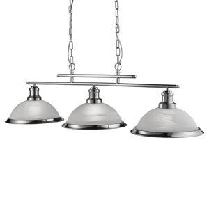 Searchlight Bistro závěsné světlo 3 žárovky, stříbro