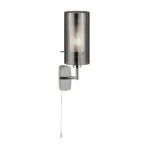 Searchlight Nástěnné světlo Duo 2, kouřové sklo/chrom vypínač