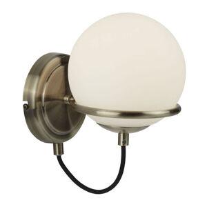 Searchlight Nástěnné světlo Sphere, skleněné kulaté stínidlo