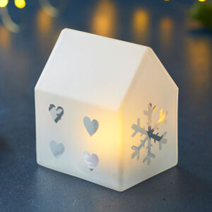 Sirius LED dekorativní světlo Santa House, výška 10 cm