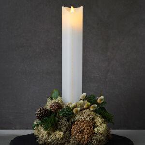 Sirius LED svíčka Sara Calendar, bílá/zlatá, výška 29 cm