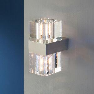 Schuller LED nástěnné světlo Cubic s čirým sklem