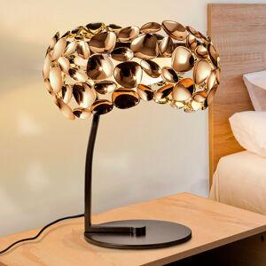 Schuller Stolní lampa LED Narisa růžově zlatá/hnědá