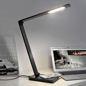 Sompex Stolní lampa Uli Phone, QI nabíjecí stanice černá