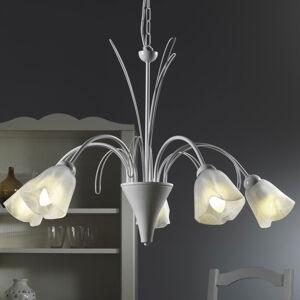 ONLI Antea závěsné světlo s 5 alabastrovými stínidly