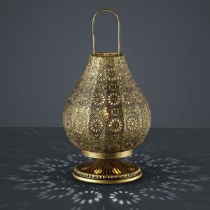Trio Lighting Jasmin - stol.lampa orientální starož. mosaz