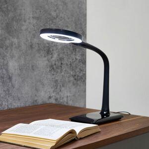 Trio Lighting LED světlo s lupou černé