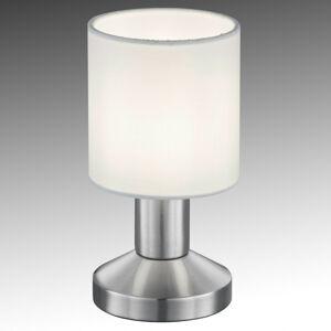 Trio Lighting Textilní stolní lampa Garda s bílým stínítkem