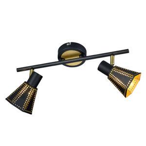Trio Lighting Houston - černo zlaté stropní světlo