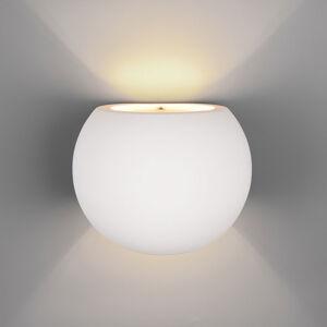 Trio Lighting Oviedo nástěnné světlo, sádra, potahované