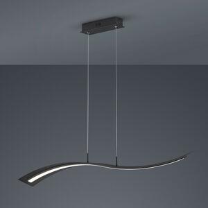Trio Lighting LED závěsné světlo Salerno, Switchdim, matná černá