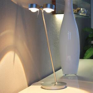 Top Light 2zdrojová stolní lampa PUK TABLE, chrom