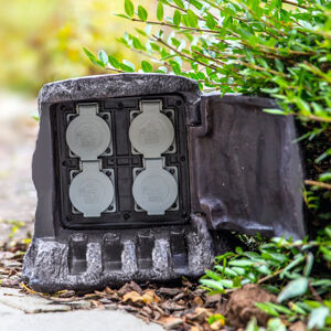 Heitronic 4x rozváděč vzhledu pařezu pro venkovní použití