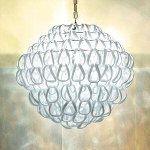 Vistosi Křišťálové závěsné světlo Giogali, 50 cm, bílé