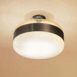 Vistosi Stropní světlo Futura ze skla Murano, bronz