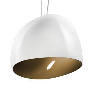 Vistosi Závěsné světlo Surface Ø 40 cm, E27 bílá/zem hnědá
