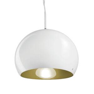 Vistosi Závěsné světlo Surface Ø 27 cm E27 bílá/zelená