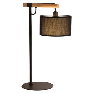 Viokef Stolní lampa Romeo s textilním stínidlem, černá