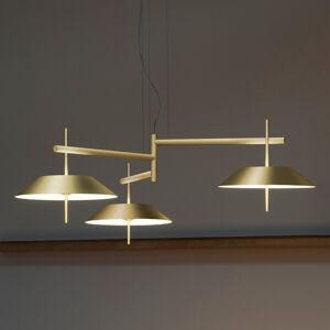 Vibia Vibia Mayfair - závěsné světlo LED, 3zdroje, zlaté