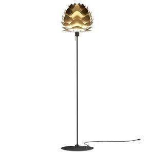 UMAGE Stojací lampa UMAGE Aluvia mini, mosaz/černá