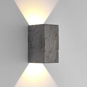 Lucande Lucande LED nástěnné světlo Vigga, břidlice