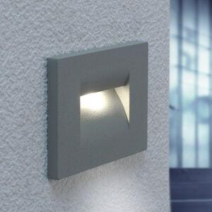Lucande Stříbrně šedé LED nástěnné vestavné svítidlo Nevin