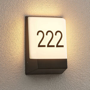 Lucande Lucande Kosman LED osvětlení čísla domu