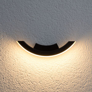 Lucande Grafitové LED venkovní světlo Half
