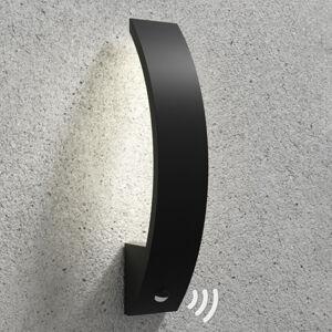 Lucande Floyd - LED venkovní světlo s čidlem, zakřivené