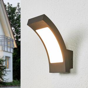 Lucande Grafitově šedé nástěnné LED světlo Juvia, IP54